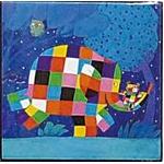 ぞうのエルマー ハイグロスminiコレクションアート 夜空に包まれて