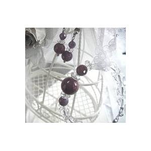 ルビー&水晶 ブレスレット・イヤリングセットのセット内容