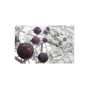 ルビー&水晶 ブレスレット・イヤリングセットのデザイン
