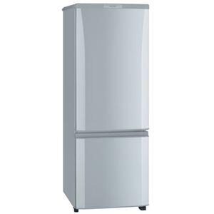 三菱(MITSUBISHI) 冷蔵庫 168L(ピュアシルバー) MR-P17S(S)