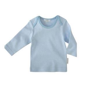 PUREBABY(ピュアベビー) ベビー服 イージーネック長袖Tシャツ PE3 ペールブルーストライプ サイズ 000
