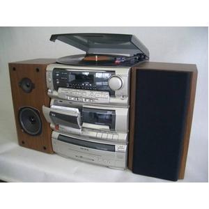 創和 マルチコンポ RW-55W 【レコード・ラジオ・カセット・CD・カラオケ】