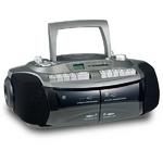 CDラジカセ ダブルカセット おけいこラジカセ CDラジカセ GW-7 カラー:グリーン GW-7G 創和 遅聞き・早聞き機能搭載