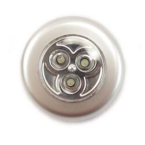 プッシュ式 LEDタッチライト 電池式 ライトアウトドア、災害や停電時にも 工事不要