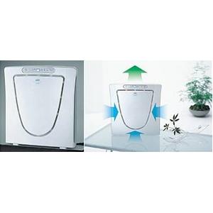 ツインバード 高性能HEPAフィルター採用 薄型マイナスイオン空気清浄機 AC-D358PW 12畳対応 パールホワイト