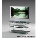 TVスタンド インテリアラック AQA-32AP38 薄型テレビ32型〜42V型対応 テレビ台アクリルを用いた浮遊デザイン