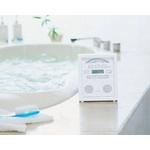 ツインバード 防水CDプレーヤー AV-J169PW MP3/WMAも再生可能CD-R/RW対応【お風呂だけでなくキッチンや洗面所、アウトドアなどでの使用にもオススメ】