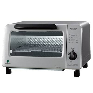 三菱電機 オーブントースター MITSUBISHI BO-R20JB 受皿を使わずに表も裏もこんがり焼ける『おいしいネット』採用