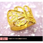 24金純金リング 【蝶舞】 インデックスリングに♪!ゴールドリング