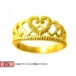 24金純金リング 【ティアラ】 女度アップ♪!ゴールドリング