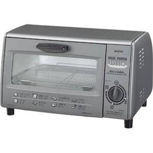 SANYO(サンヨー) オーブントースター SK-PS2(H) 【ハイパワー1000Wでトースターを一気においしく焼き上げる】