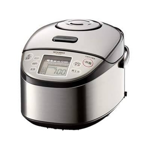 MITSUBISHI(三菱) 炊飯器 NJ-TE10-S 超音波圧力IHジャー炊飯器(5.5合炊き)「超音波吸水」、1.2気圧105℃「大沸騰圧力」