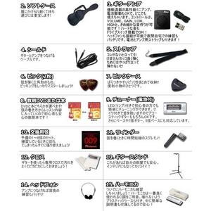 Photo Genic(フォトジェニック) エレキギター初心者15点セット アンプ付き入門に最適!24フレット 【細めのネックでテクニカルもいける!PGタイプ】 PG240 DBL (DVD)