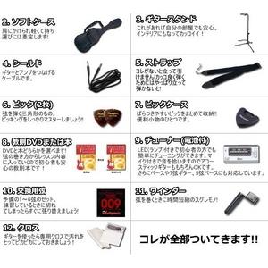 Photo Genic(フォトジェニック) エレキギター初心者12点セット 入門に最適! 【軽くて弾きやすいので女性にもオススメ!SGタイプ】 SG280 BK (DVD)