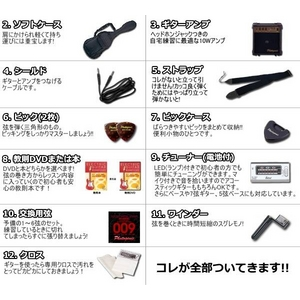 Photo Genic(フォトジェニック) エレキギター初心者12点セット アンプ付き入門に最適! 【テレキャスタータイプ】 TCL220 N (DVD)
