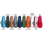 ウクレレケース ソプラノロングサイズ対応 ULU-80 カラフルカラー 選べる10色! ネック受けに、着脱できるクッションパッド付き OLIVE