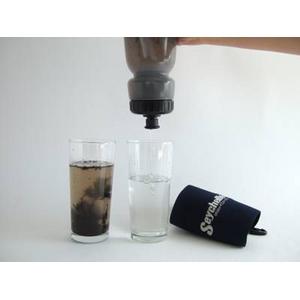 【世界最高峰級】【防災・アウトドア・旅行で大活躍】 Seychelle(セイシェル)携帯浄水ボトル+交換用フィルター1個付き【正規品】