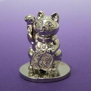 FANTASISTA(ファンタジスタ) 幸運シリーズ!!神が宿る白銀の招き猫マーカー!!