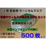 サージカル フェイスマスク surgicalfacemask 50枚10セット 500枚