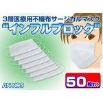 3層医療用サージカルマスク        「インフルブロック」AN-N95 50枚セット