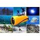 【小型カメラ】水中ビデオカメラ 水深10M 8G内蔵 Windows7対応【AN-W010 水中カメラ】