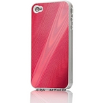 Ai-Style Series iPhone4 ハードケース 【Ai4-Wood-RD】 Type Wood RD(レッド)