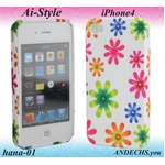 Ai-Style Series iPhone4 TPUケース Type 花柄 【Ai4-hana-01】