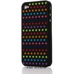 Ai-Style Series iPhone4 ケース 【Ai4-S-Dot-BK】(ブラック)替玉7色各16個付