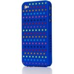 Ai-Style Series iPhone4 ケース 【Ai4-S-Dot-BL】(ブルー)替玉7色各16個付