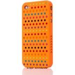 Ai-Style Series iPhone4 ケース 【Ai4-S-Dot-OG】(オレンジ)替玉7色各16個付