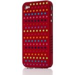 Ai-Style Series iPhone4 ケース 【Ai4-S-Dot-WN】(ワイン)替玉7色各16個付