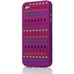 Ai-Style Series iPhone4 ケース 【Ai4-S-Dot-PL】(パープル)替玉7色各16個付