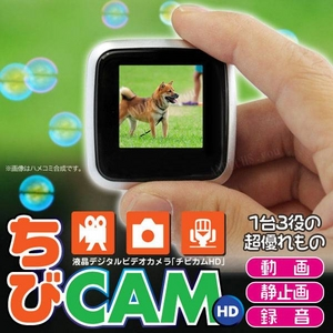 【小型カメラ】液晶ファインダー付 デジタル ビデオカメラ ちびカムHD G200
