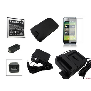GALAXY S 充電器&予備バッテリー&レザーケース&液晶シート