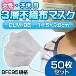 インフルエンザ対策マスク 50枚セット(子供・女性用)