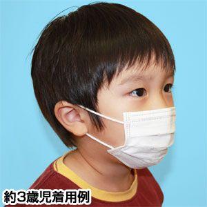【幼児・子供用マスク】新型インフルエンザ対策3層不織布マスク 250枚セット(50枚入り×5)