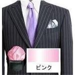 ポケットチーフ フィックス・ポン パッフド1 ピンク