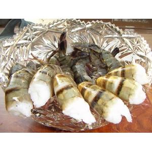 築地魚河岸から直送、魚河岸仲買人厳選の食材ブラックタイガー (1.8kg)