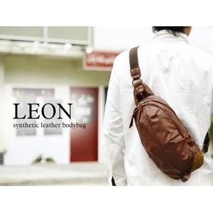 LEON(レオン) フェイクレザーボディバッグ キャメル