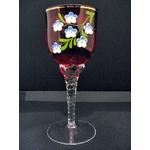 ボヘミアンガラスのワイングラスペア