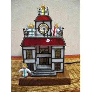 ♪天使さんの集まるステンドグラスの時計の家♪