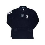 POLO Ralph Lauren(ポロ ラルフローレン) ビッグポニーポロシャツ(長袖) クラシックフィット ネイビー×ホワイト Sサイズ