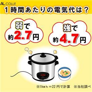 AL COLLE(アルコレ)  スロークッカー・タイマー付煮込み名人(直火対応!) ASC-T25