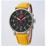 HUNTING WORLD(ハンティングワールド) 腕時計 カンガ クォーツ イタリア製 HW013YL 黄革