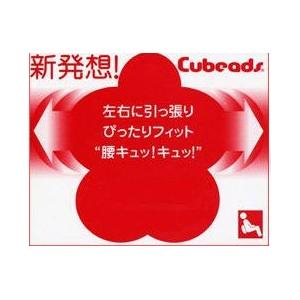 背中にぴったり新感覚腰痛用クッション Cubeads「キュッキュッ」(色:赤(表)/黒(裏))
