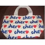 Cher(シェル)エコバッグ・Sサイズ(カラー:ホワイト×ネイビー)の詳細ページへ