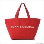 DEAN&DELUCA(ディーン&デルーカ) トートバッグ 限定レッド (サイズ:S・Lセット)