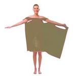 TVで紹介され大人気!着れるバスタオル「バスタローブ」(チョコレートブラウン)