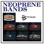POWER BALANCE NEOPLANE BANDS(パワーバランス ネオプレーンバンド) ブラック×シルバー/M
