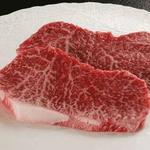 【お歳暮用 のし付き(名入れ不可)】特選A5松阪牛モモステーキ100g 2枚セットの詳細ページへ